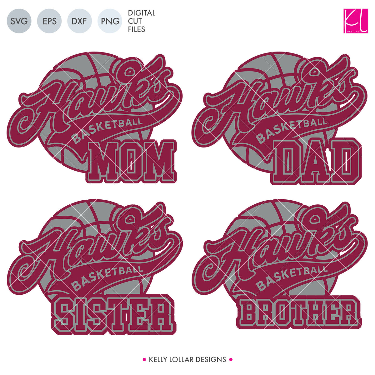 Hawks Basketball Bundle | SVG DXF EPS PNG Cut Files