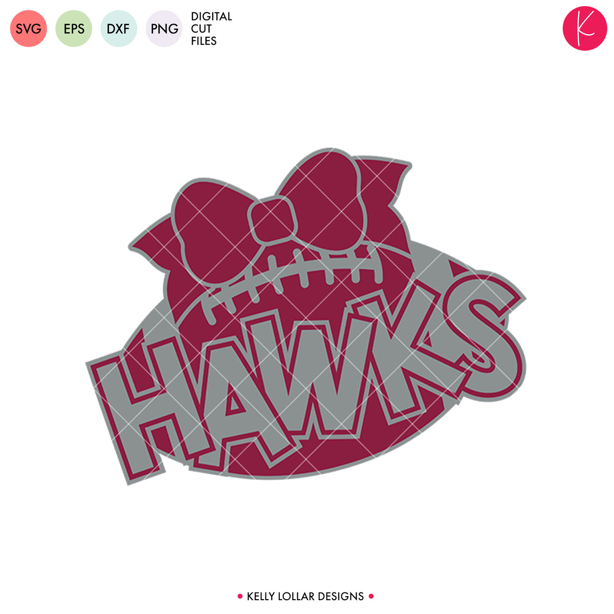 Hawks Football Bundle | SVG DXF EPS PNG Cut Files