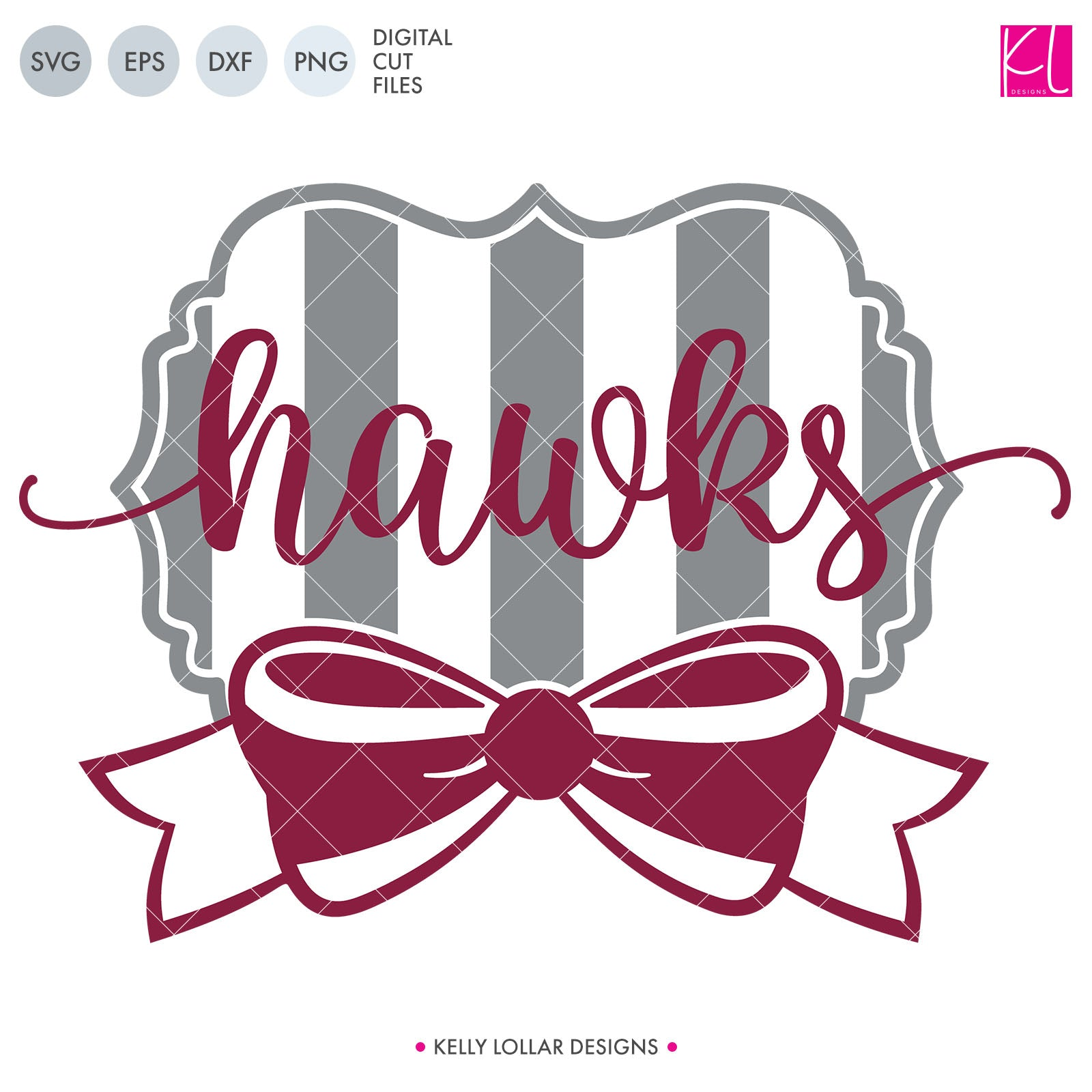 Hawks Mascot Bundle | SVG DXF EPS PNG Cut Files A perfect bundle for Hawks school spirit crafters! This set of 28 designs includes everything from cute and girly to unisex so you'll have a little something for everyone. Includes