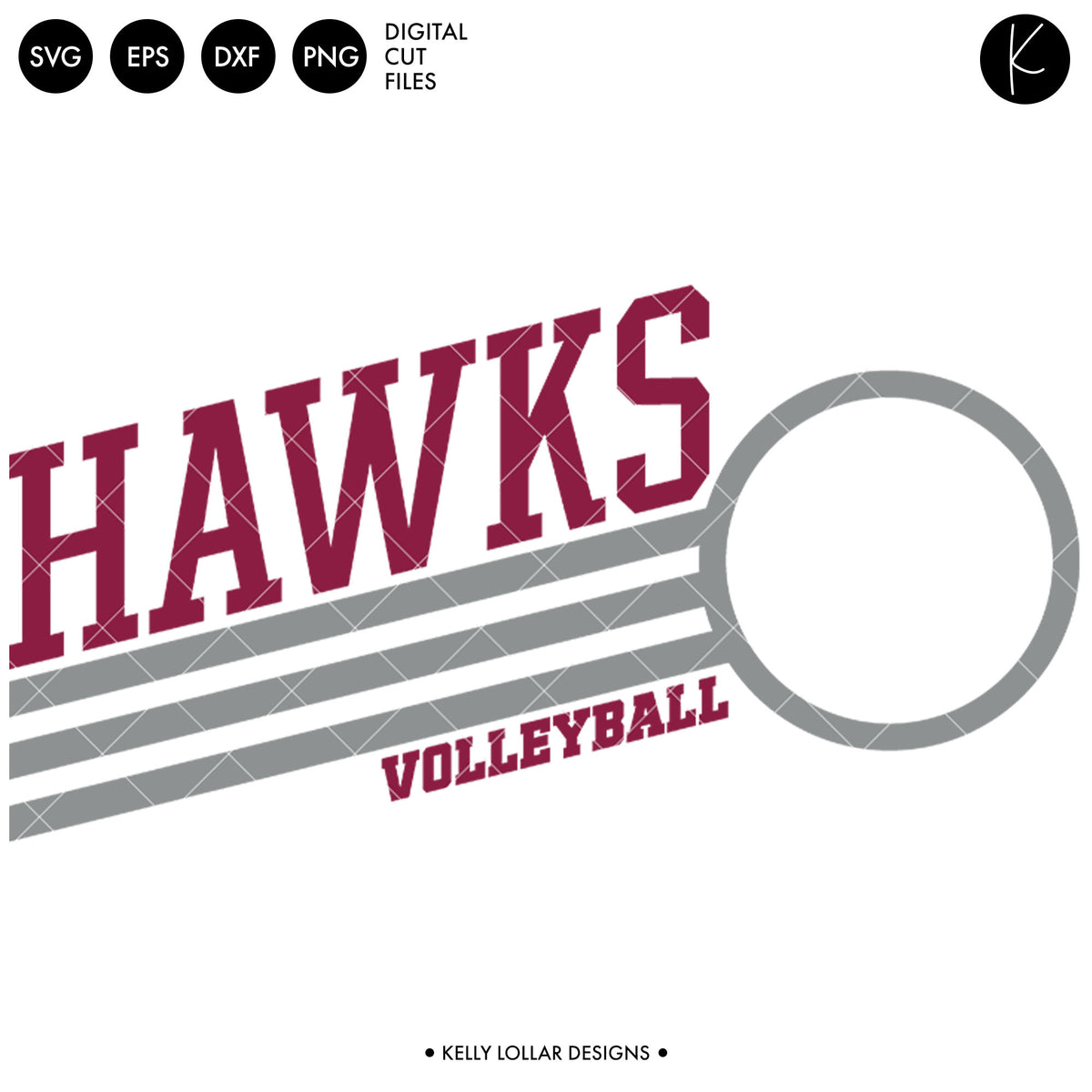 Hawks Volleyball Bundle | SVG DXF EPS PNG Cut Files