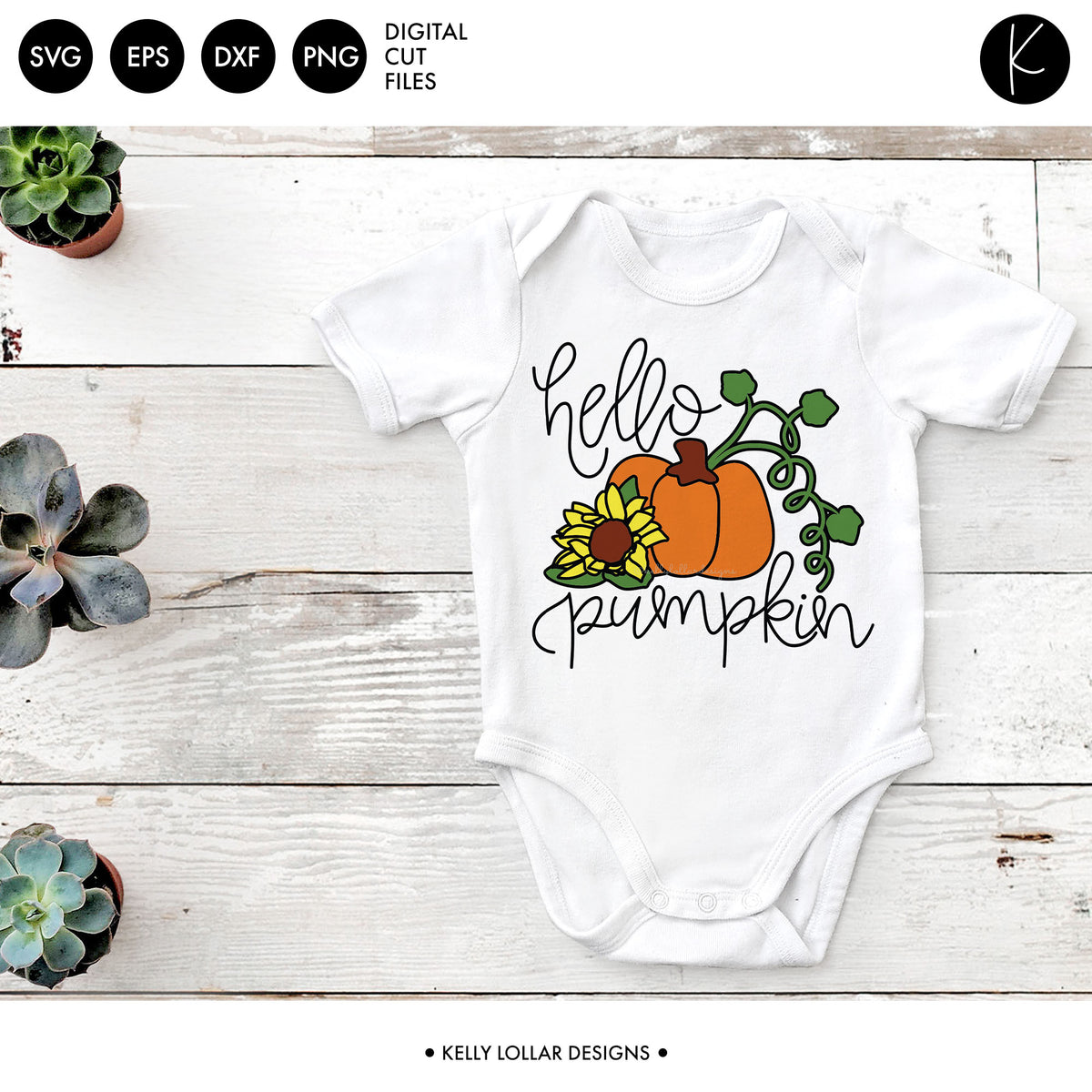 Hello Pumpkin | SVG DXF EPS PNG Cut Files