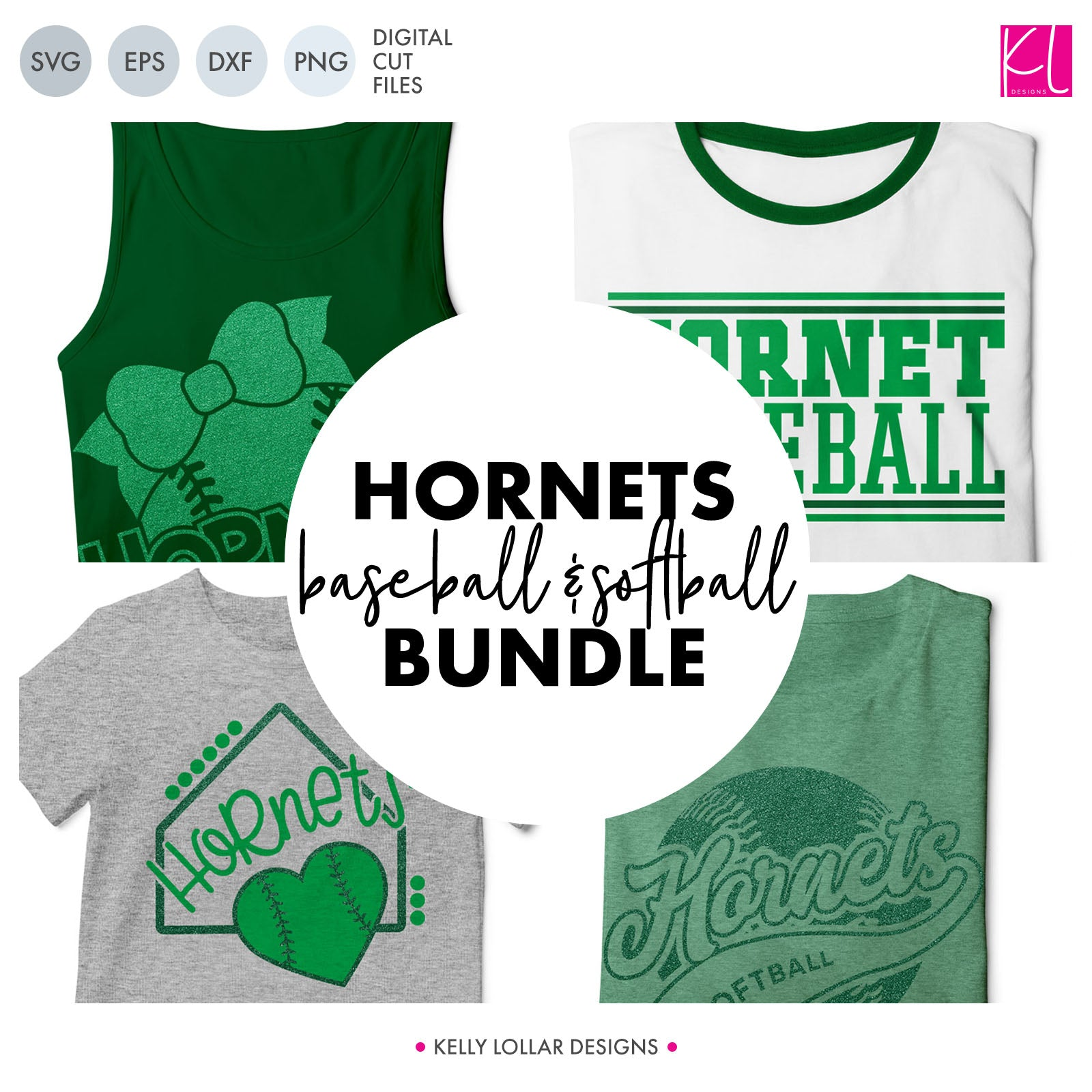 Hornets Baseball & Softball Bundle | SVG DXF EPS PNG Cut Files