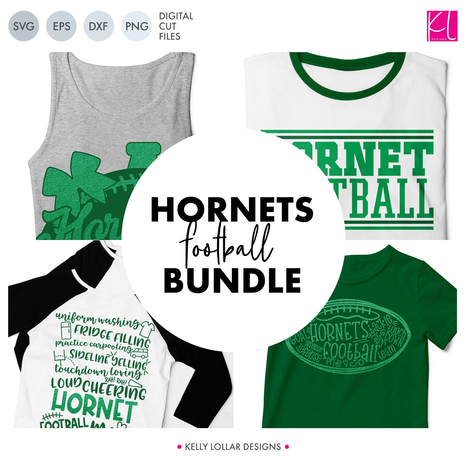 Hornets Football Bundle | SVG DXF EPS PNG Cut Files