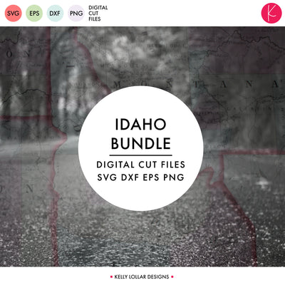 Idaho State Bundle | SVG DXF EPS PNG Cut Files