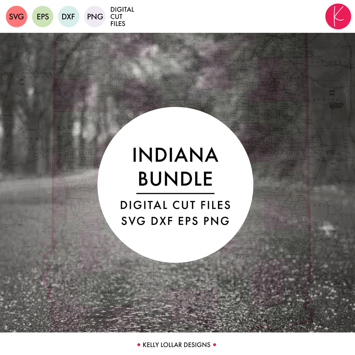 Indiana State Bundle | SVG DXF EPS PNG Cut Files