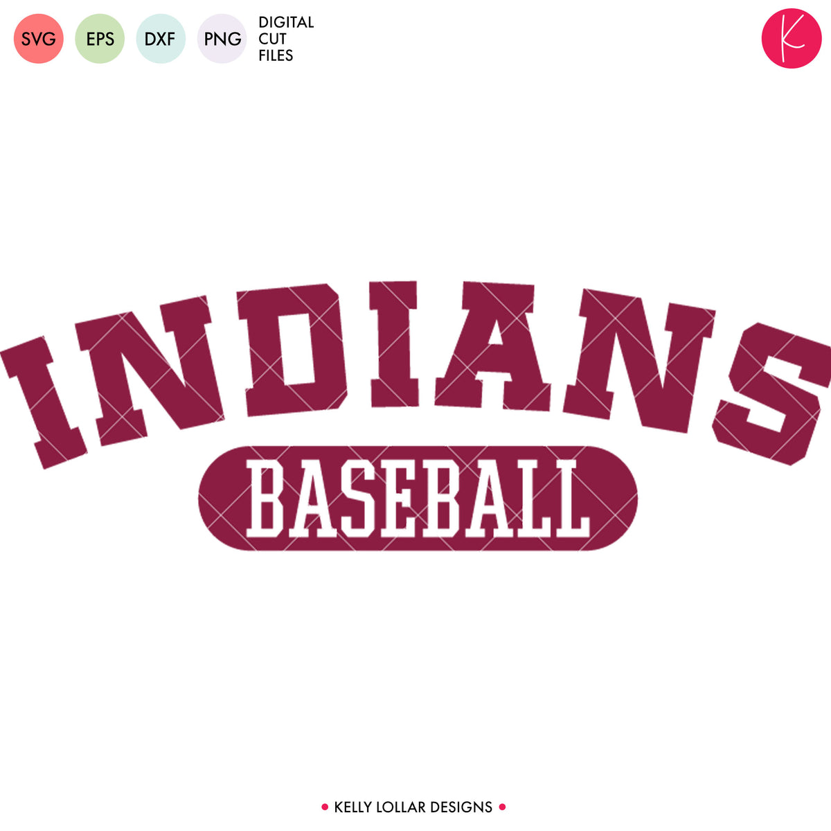 Indians Baseball & Softball Bundle | SVG DXF EPS PNG Cut Files