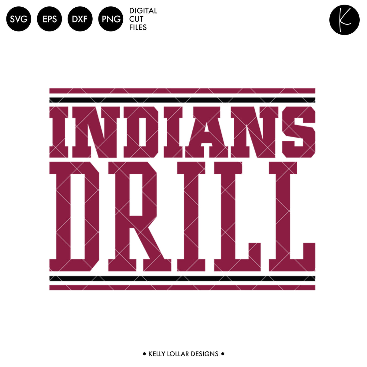 Indians Drill Bundle | SVG DXF EPS PNG Cut Files