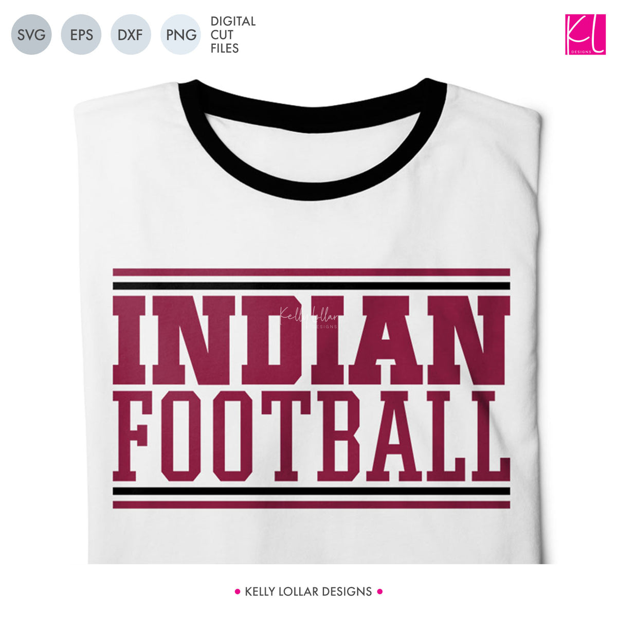 Indians Football Bundle | SVG DXF EPS PNG Cut Files
