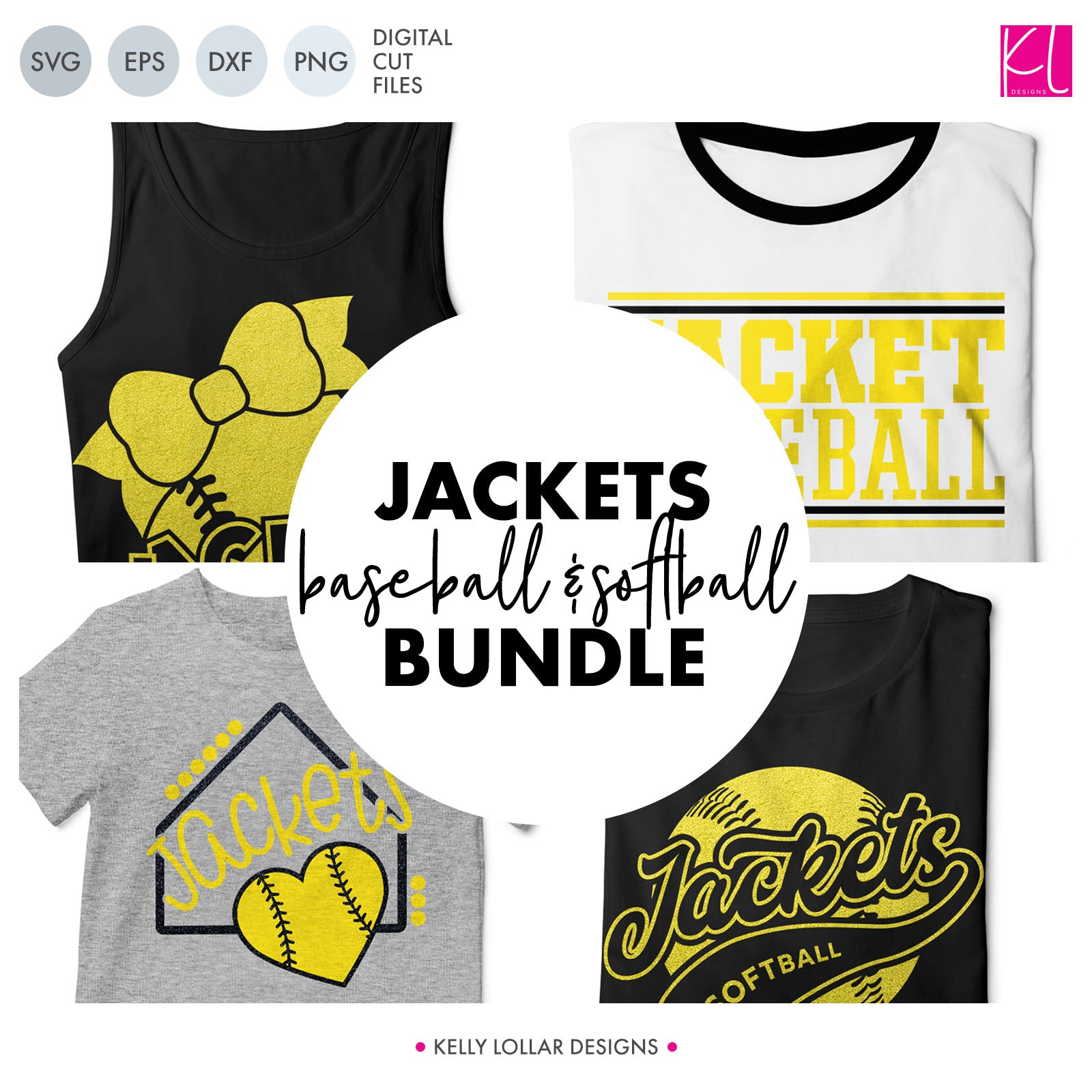 Jackets Baseball & Softball Bundle | SVG DXF EPS PNG Cut Files It's baseball and softball season, so Jacket crafter know what that means ... new spirit shirts! This fifteen-piece bundle includes a little something for everyone - from girly and cute