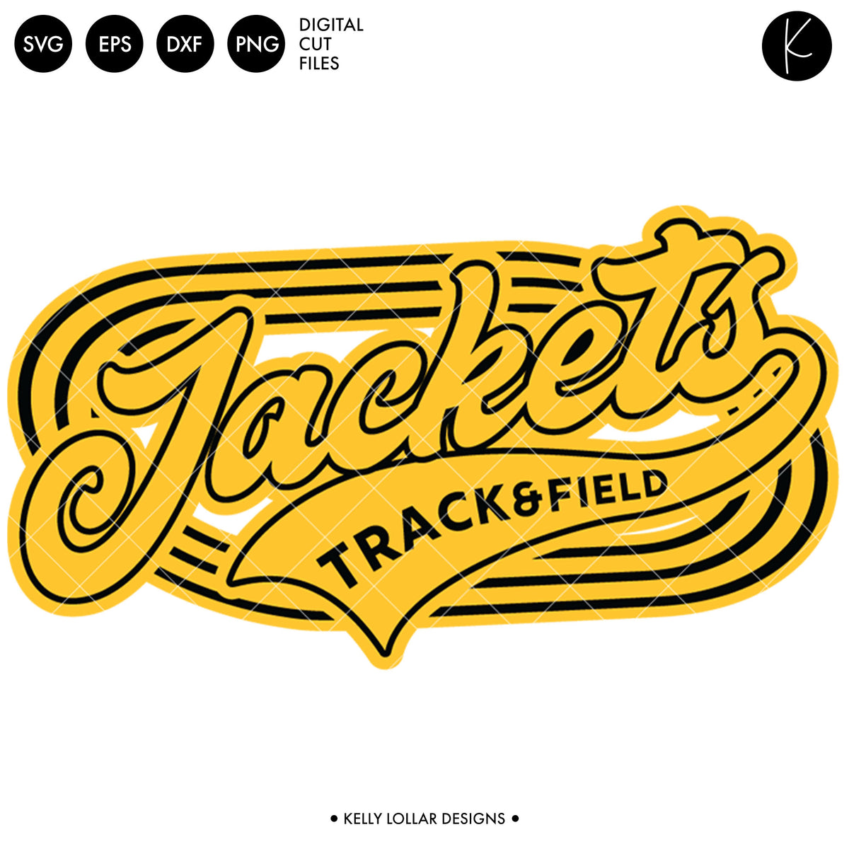 Jackets Track & Field Bundle | SVG DXF EPS PNG Cut Files
