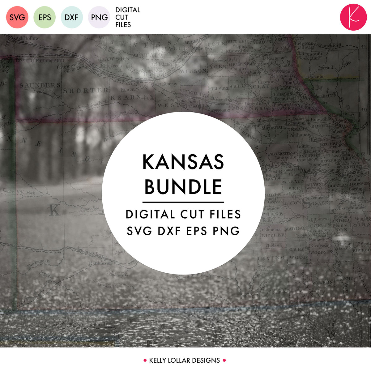 Kansas State Bundle | SVG DXF EPS PNG Cut Files