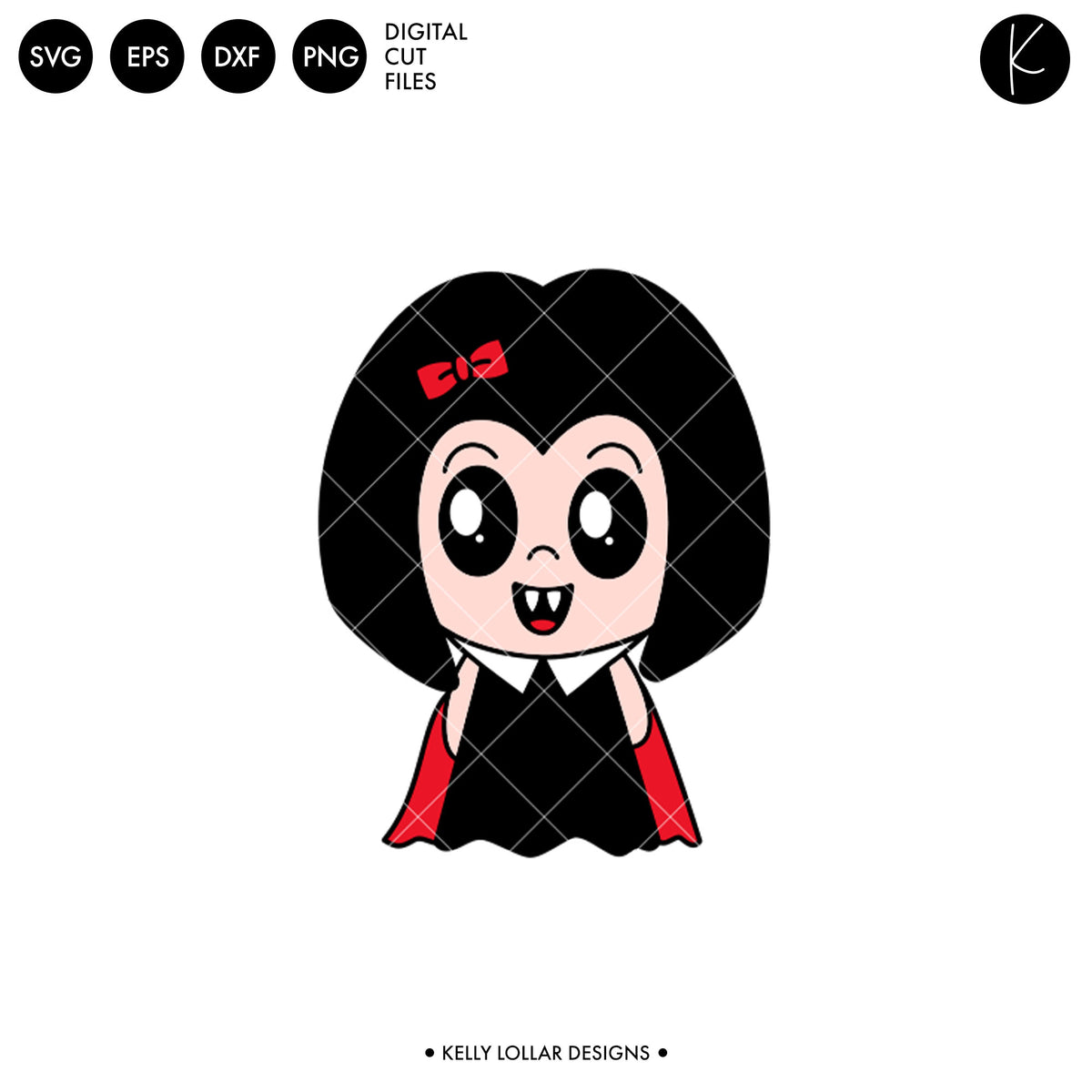 Kawaii Vampire Girl | SVG DXF EPS PNG Cut Files