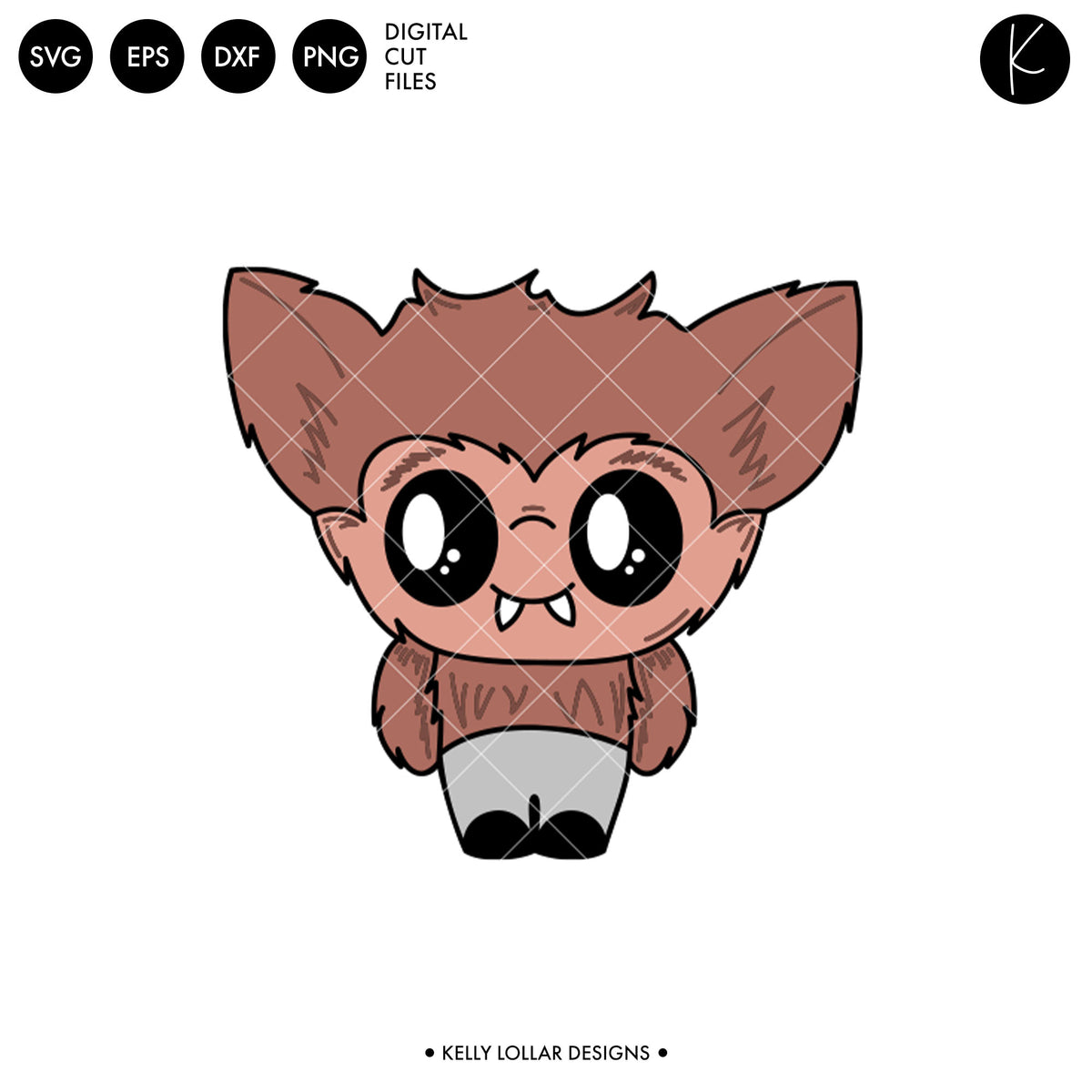 Kawaii Werewolf | SVG DXF EPS PNG Cut Files