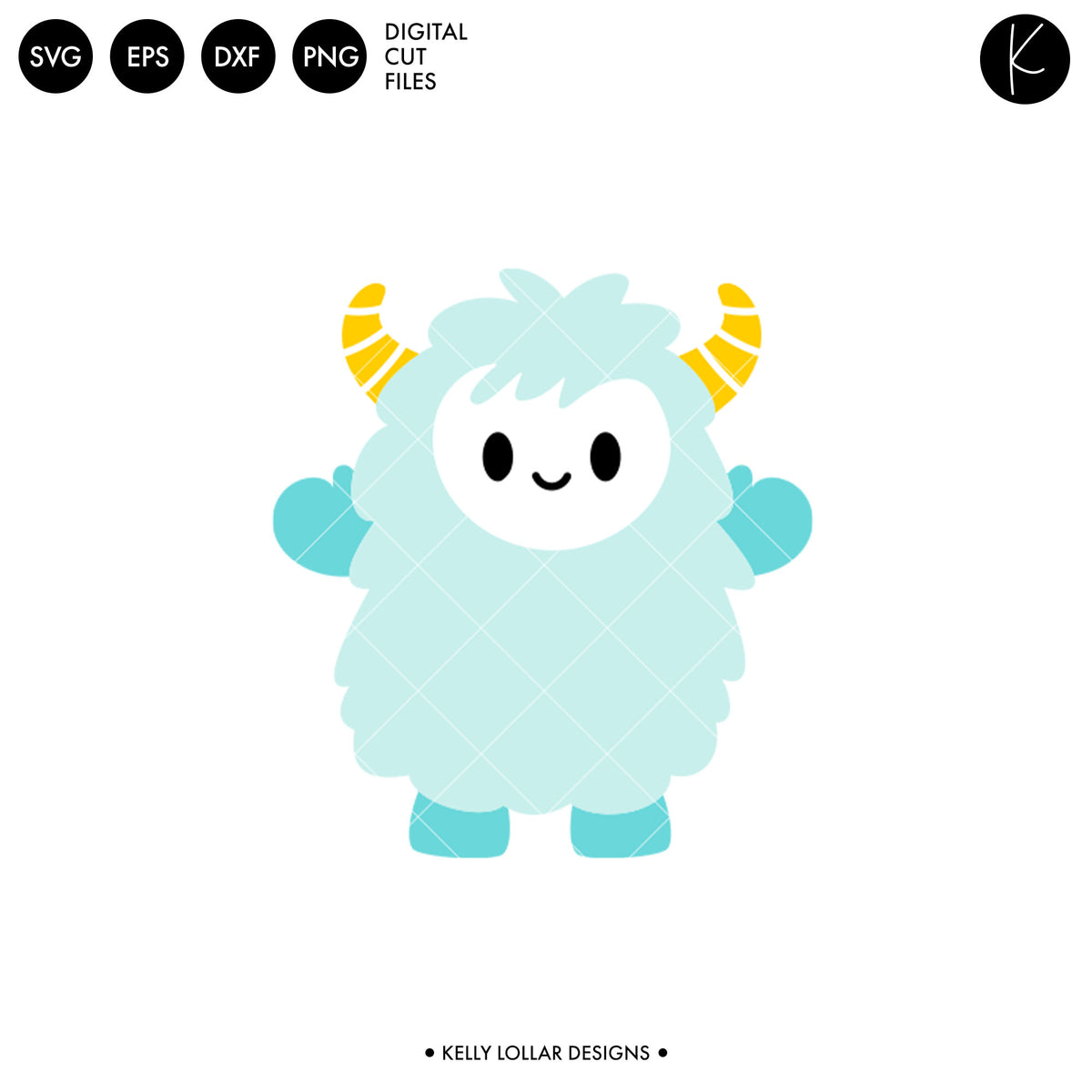 Kawaii Yeti | SVG DXF EPS PNG Cut Files