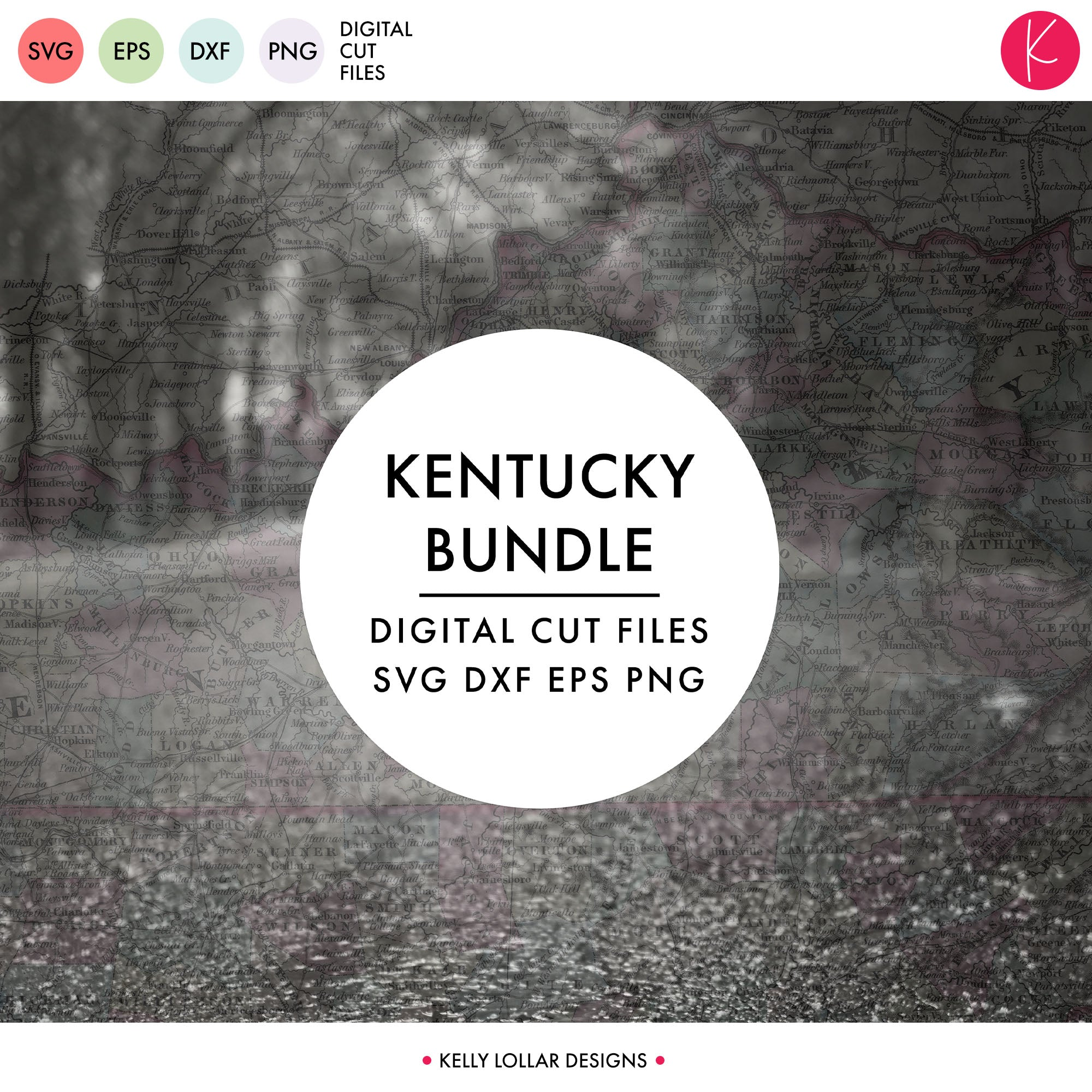 Kentucky State Bundle | SVG DXF EPS PNG Cut Files