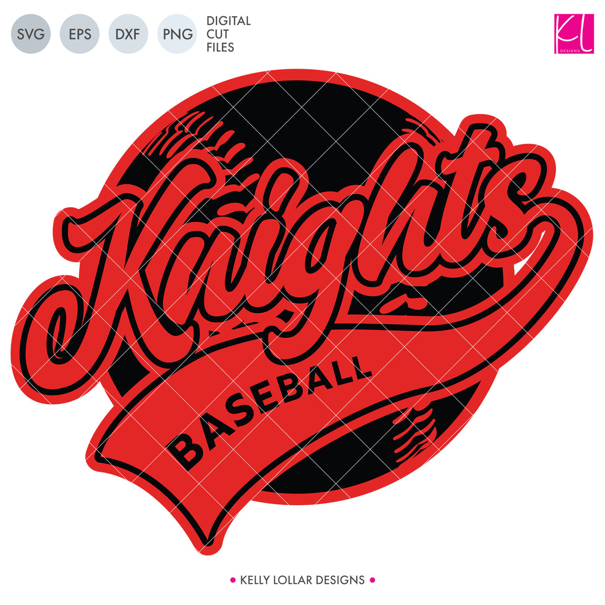 Knights Baseball & Softball Bundle | SVG DXF EPS PNG Cut Files