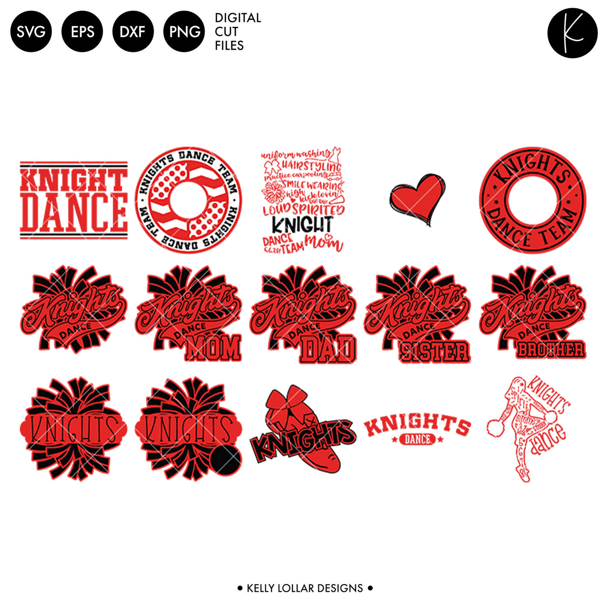 Knights Dance Bundle | SVG DXF EPS PNG Cut Files