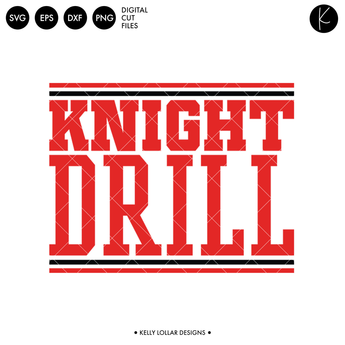 Knights Drill Bundle | SVG DXF EPS PNG Cut Files