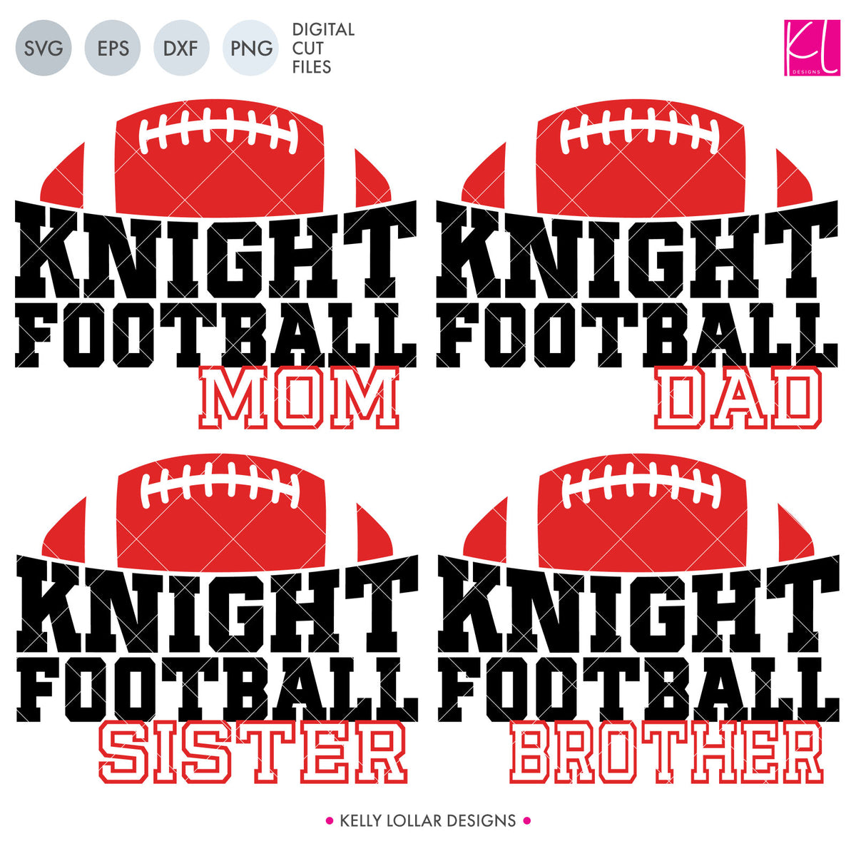 Knights Football Bundle | SVG DXF EPS PNG Cut Files