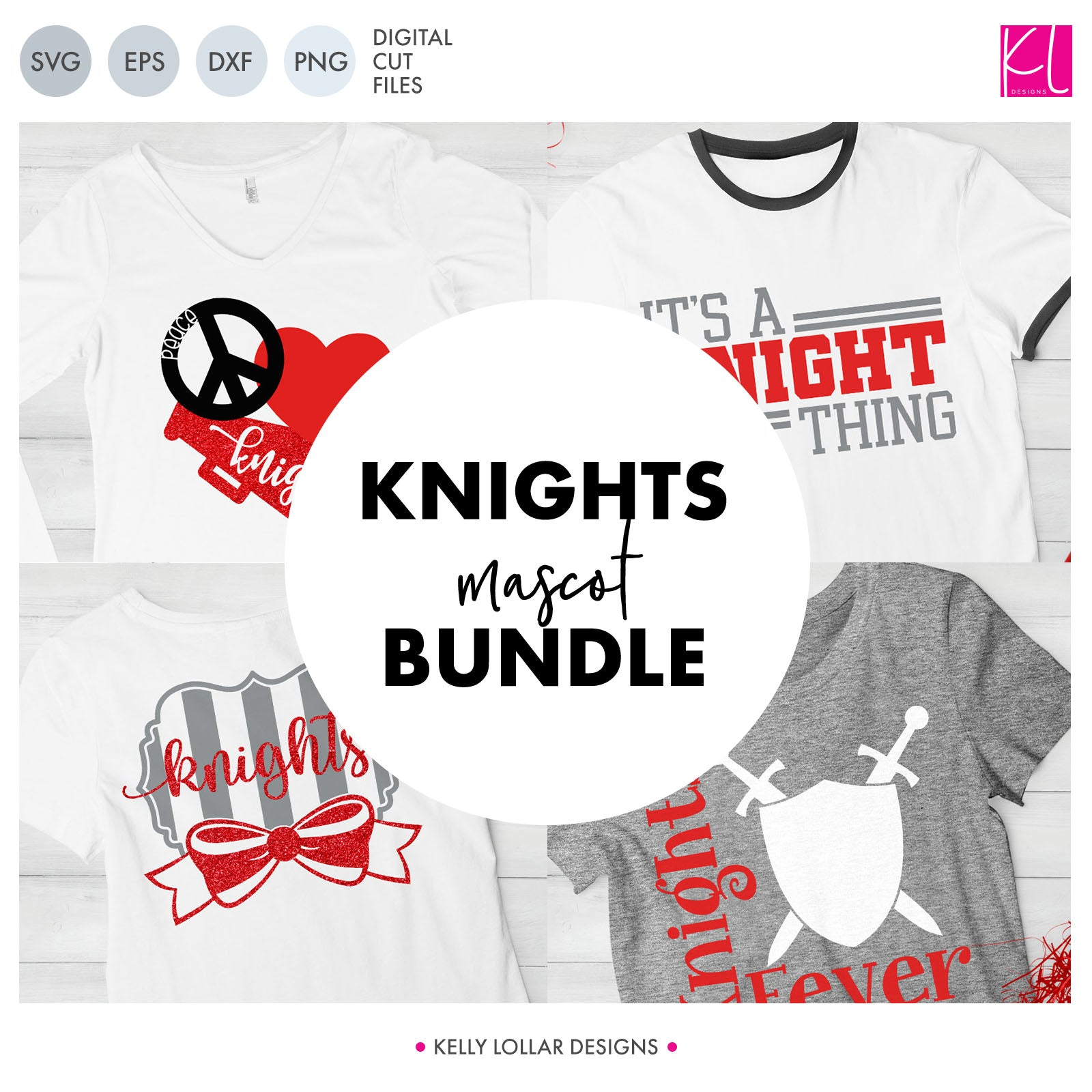 Knights Mascot Bundle | SVG DXF EPS PNG Cut Files