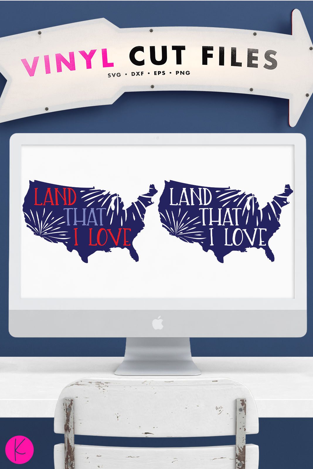 Land That I Love | SVG DXF EPS PNG Cut Files