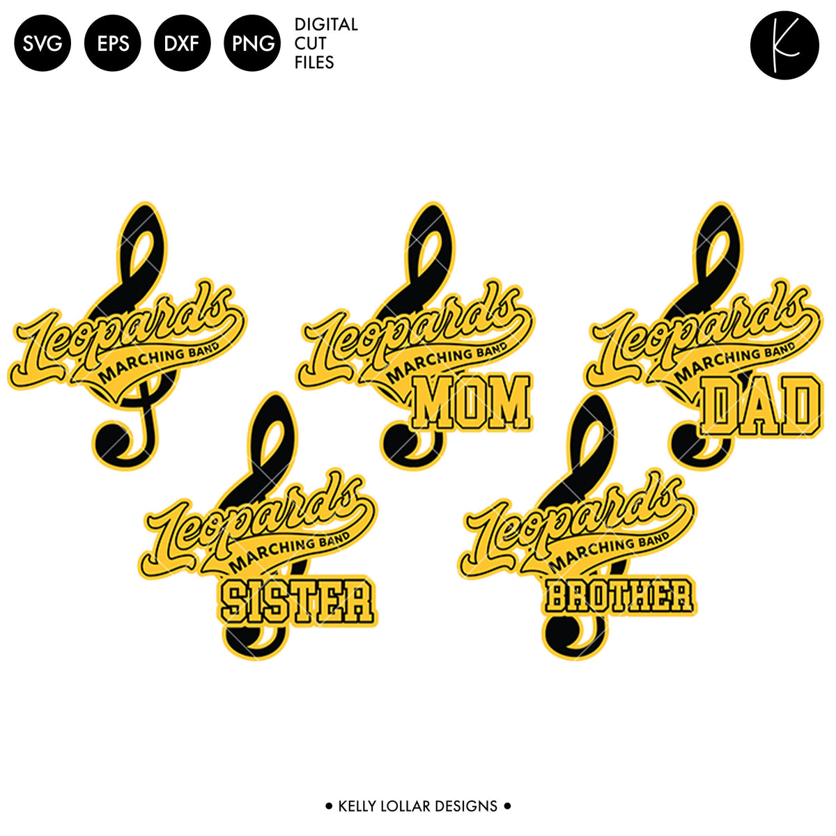 Leopards Band Bundle | SVG DXF EPS PNG Cut Files
