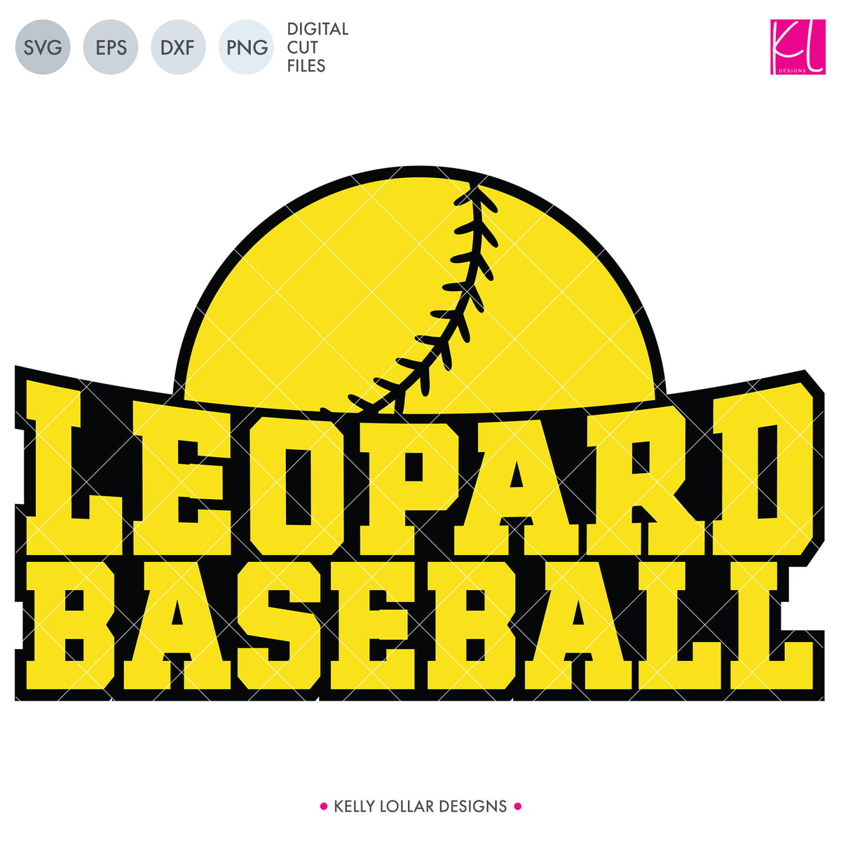 Leopards Baseball & Softball Bundle | SVG DXF EPS PNG Cut Files