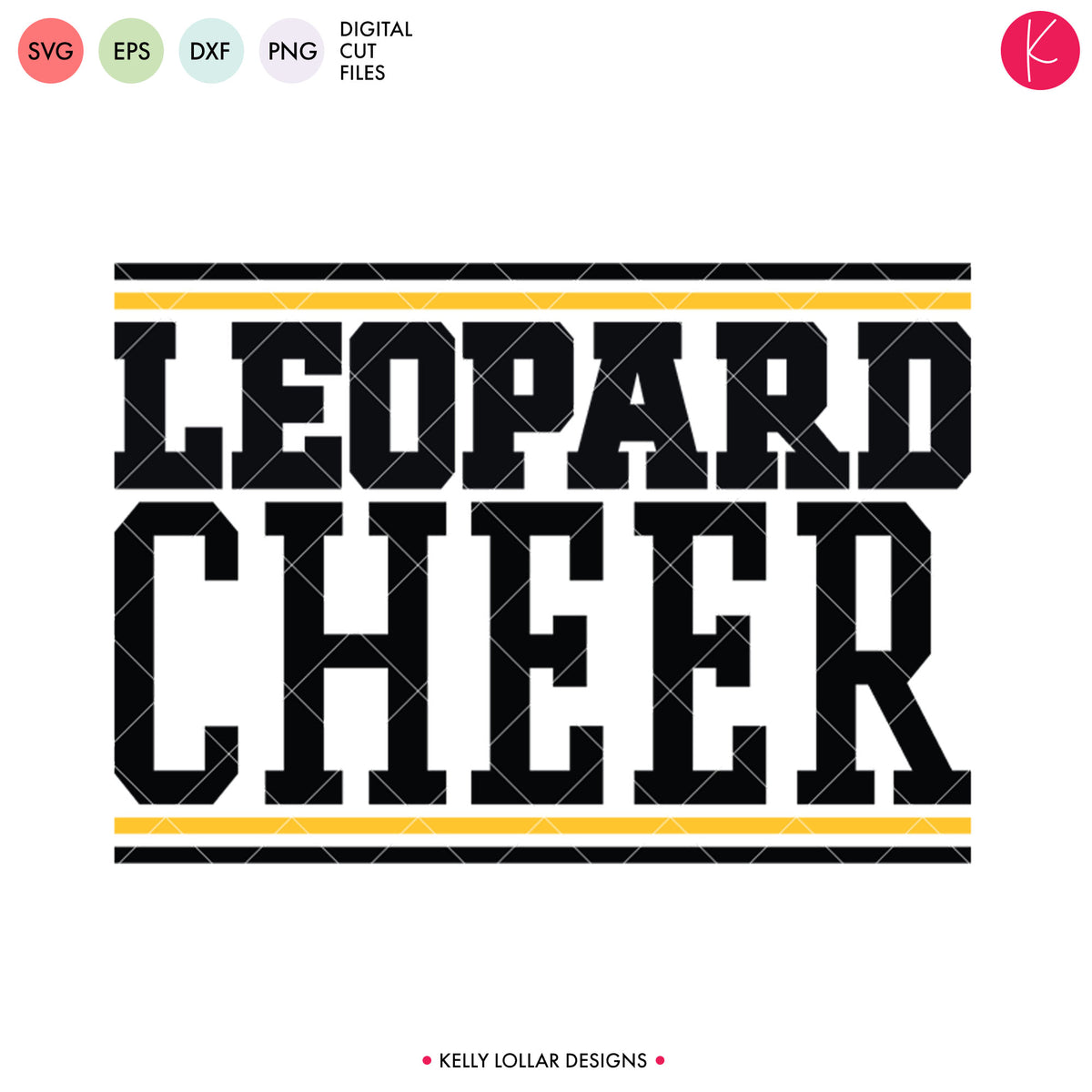 Leopards Cheer Bundle | SVG DXF EPS PNG Cut Files