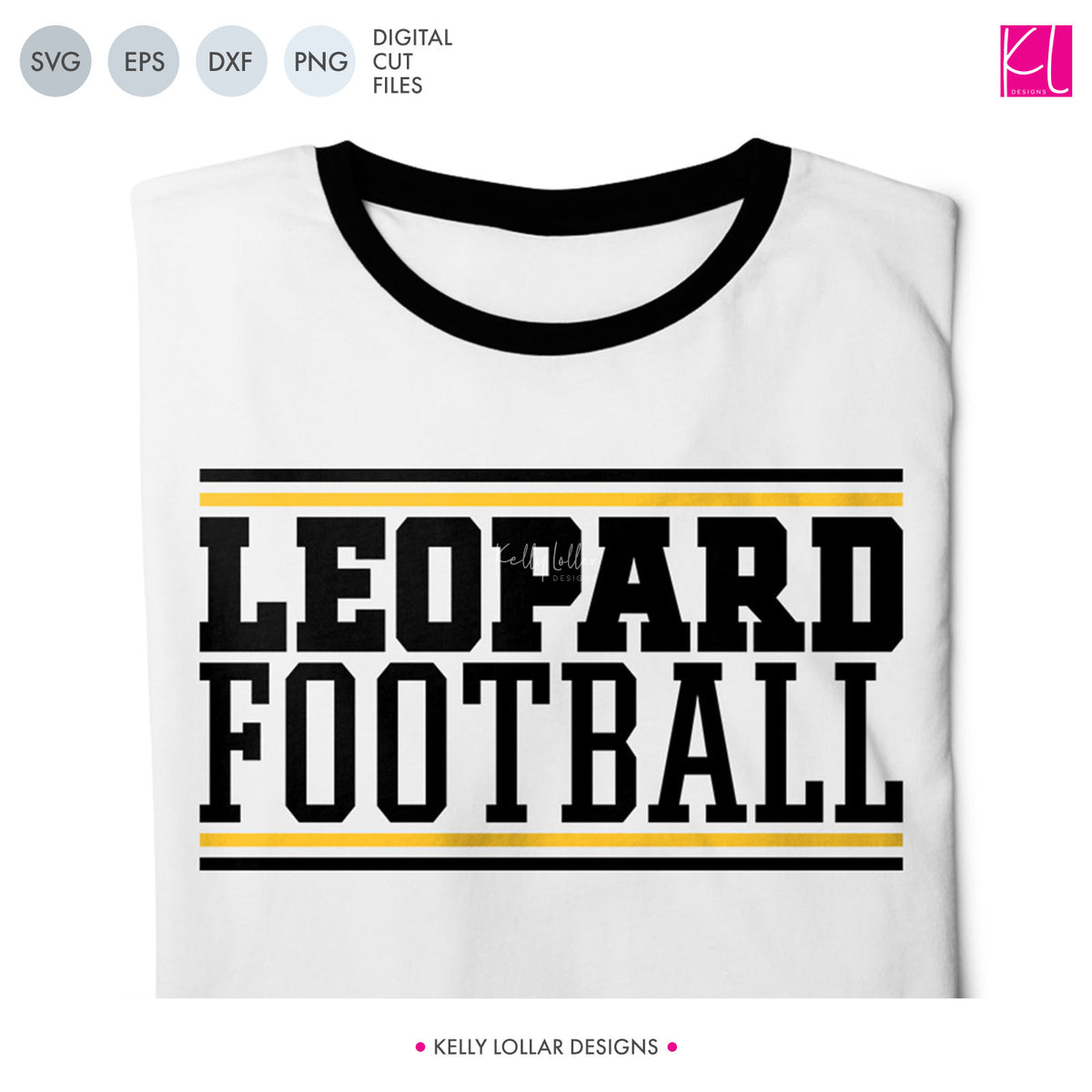 Leopards Football Bundle | SVG DXF EPS PNG Cut Files