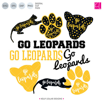 Leopards Mascot Bundle | SVG DXF EPS PNG Cut Files