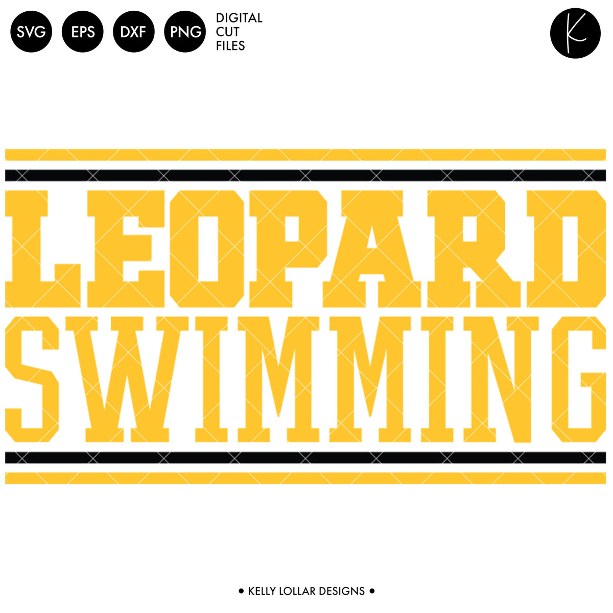 Leopards Swim Bundle | SVG DXF EPS PNG Cut Files