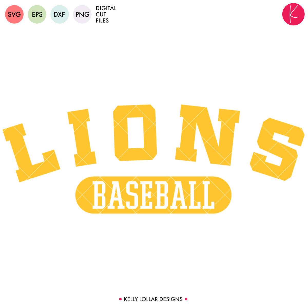 Lions Baseball & Softball Bundle | SVG DXF EPS PNG Cut Files
