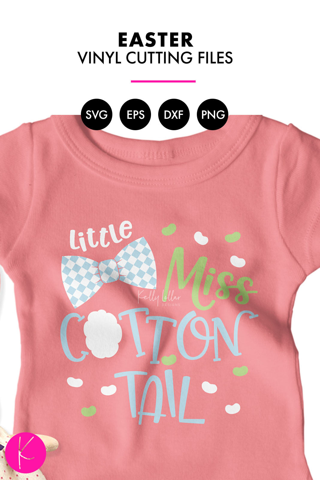 Little Miss Cottontail | SVG DXF EPS PNG Cut Files