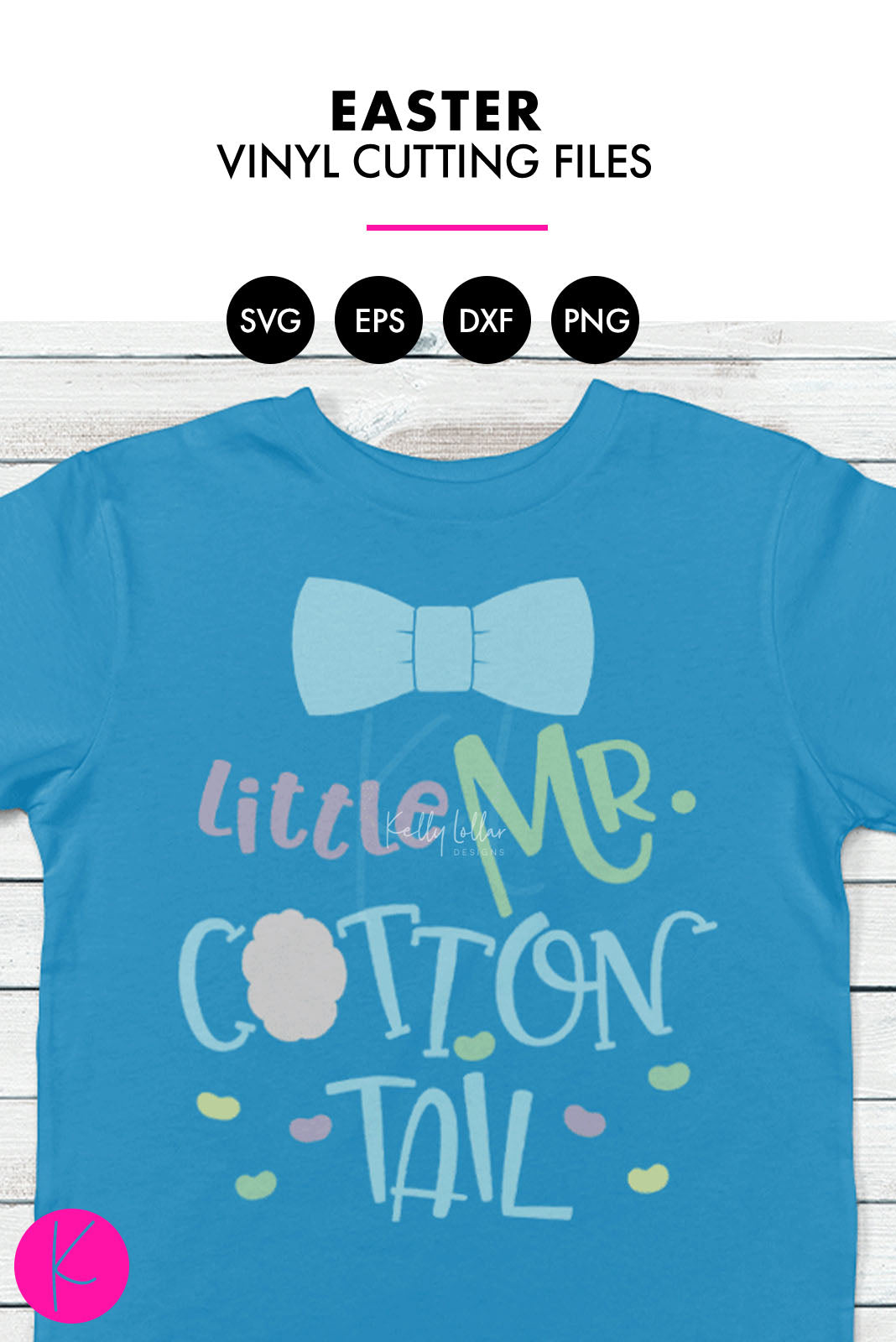 Little Mr. Cottontail | SVG DXF EPS PNG Cut Files
