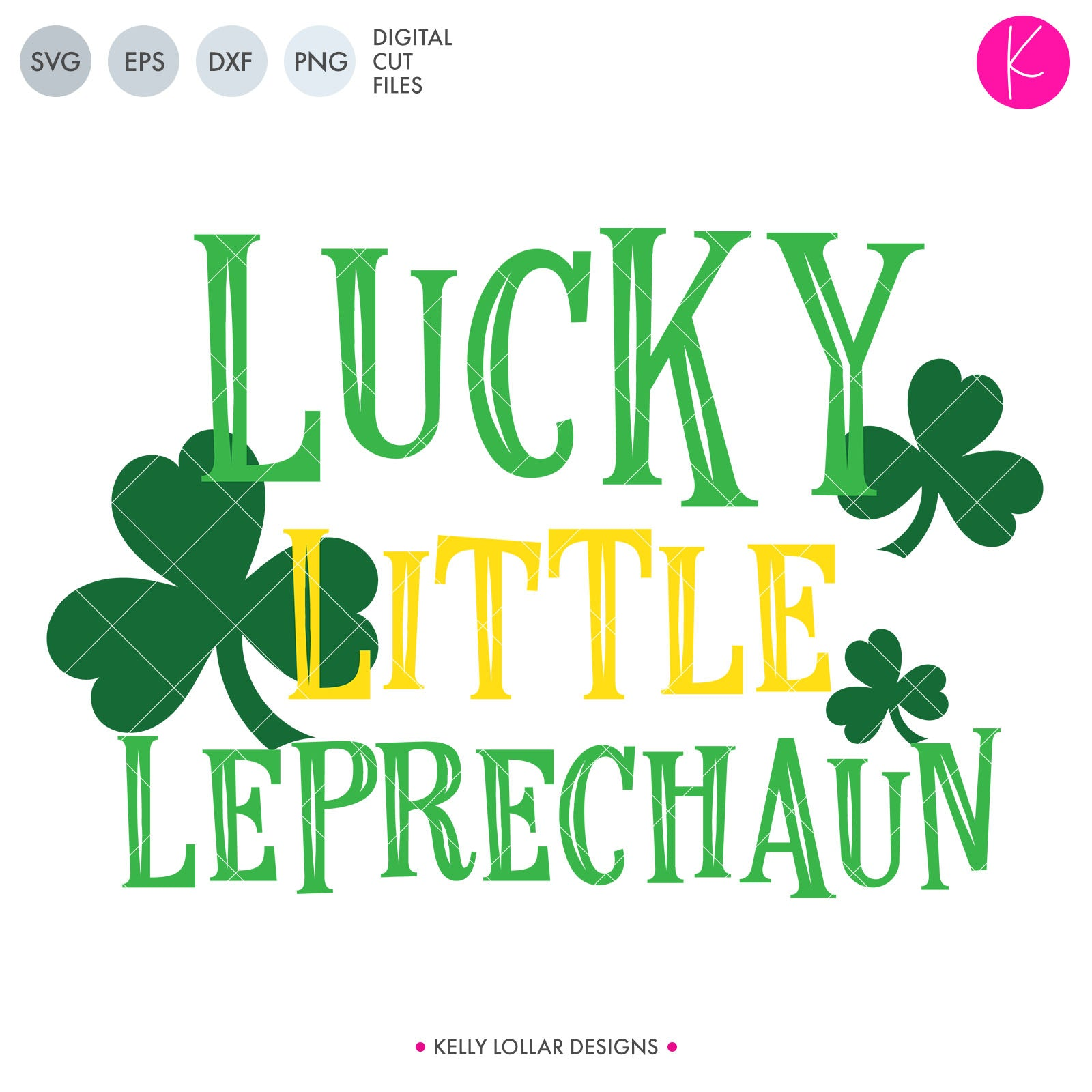 Lucky Little Leprechaun | SVG DXF EPS PNG Cut Files Lucky Little Leprechaun Retro Style Quote with Shamrocks | SVG DXF PNG Cut Files Make sure your little one is pinch proof this St. Patrick's Day with a cute new