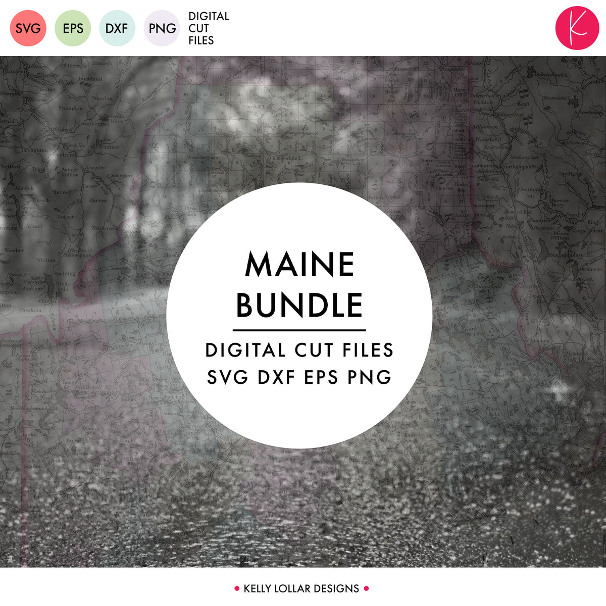 Maine State Bundle | SVG DXF EPS PNG Cut Files