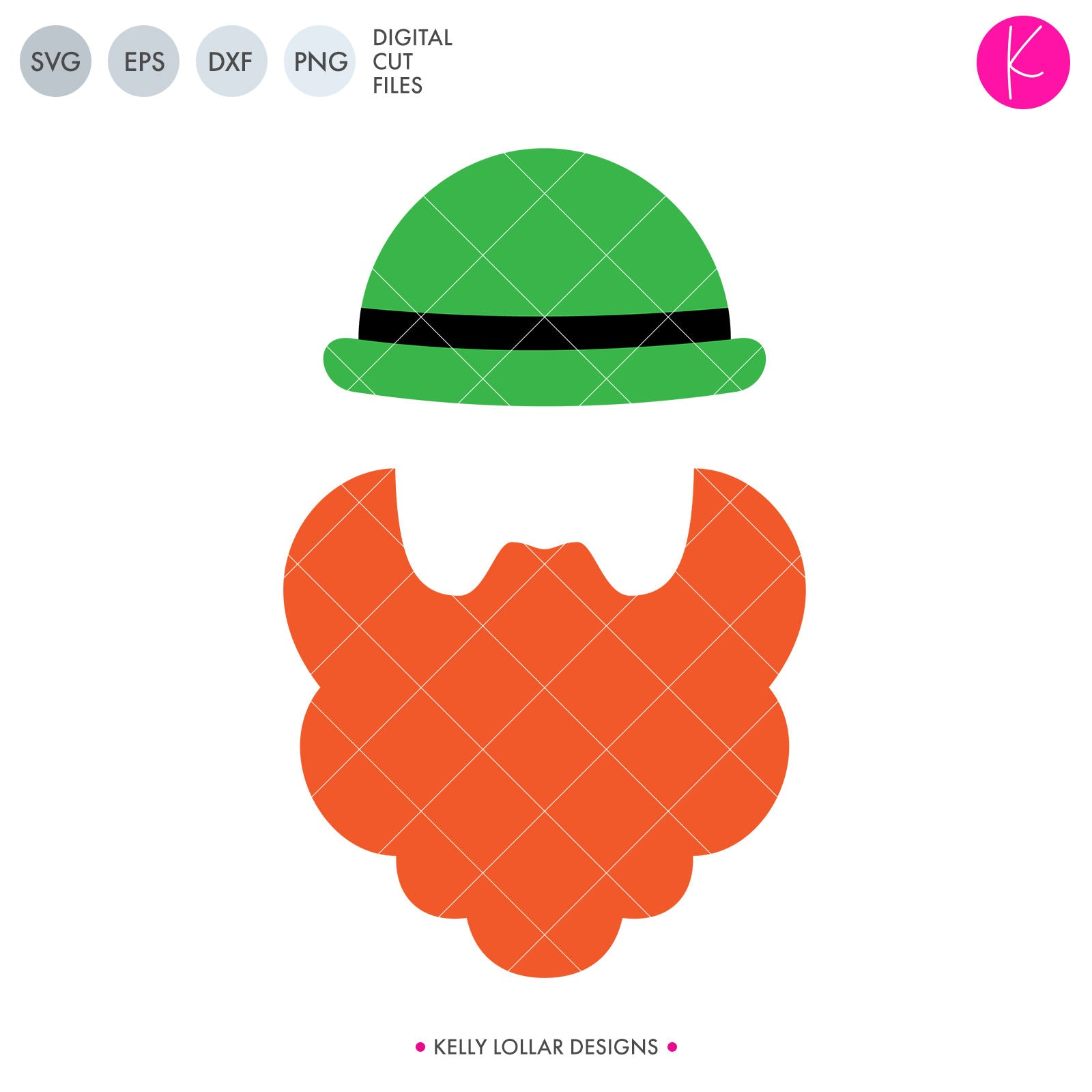 Leprechaun Male Silhouette | SVG DXF EPS PNG Cut Files