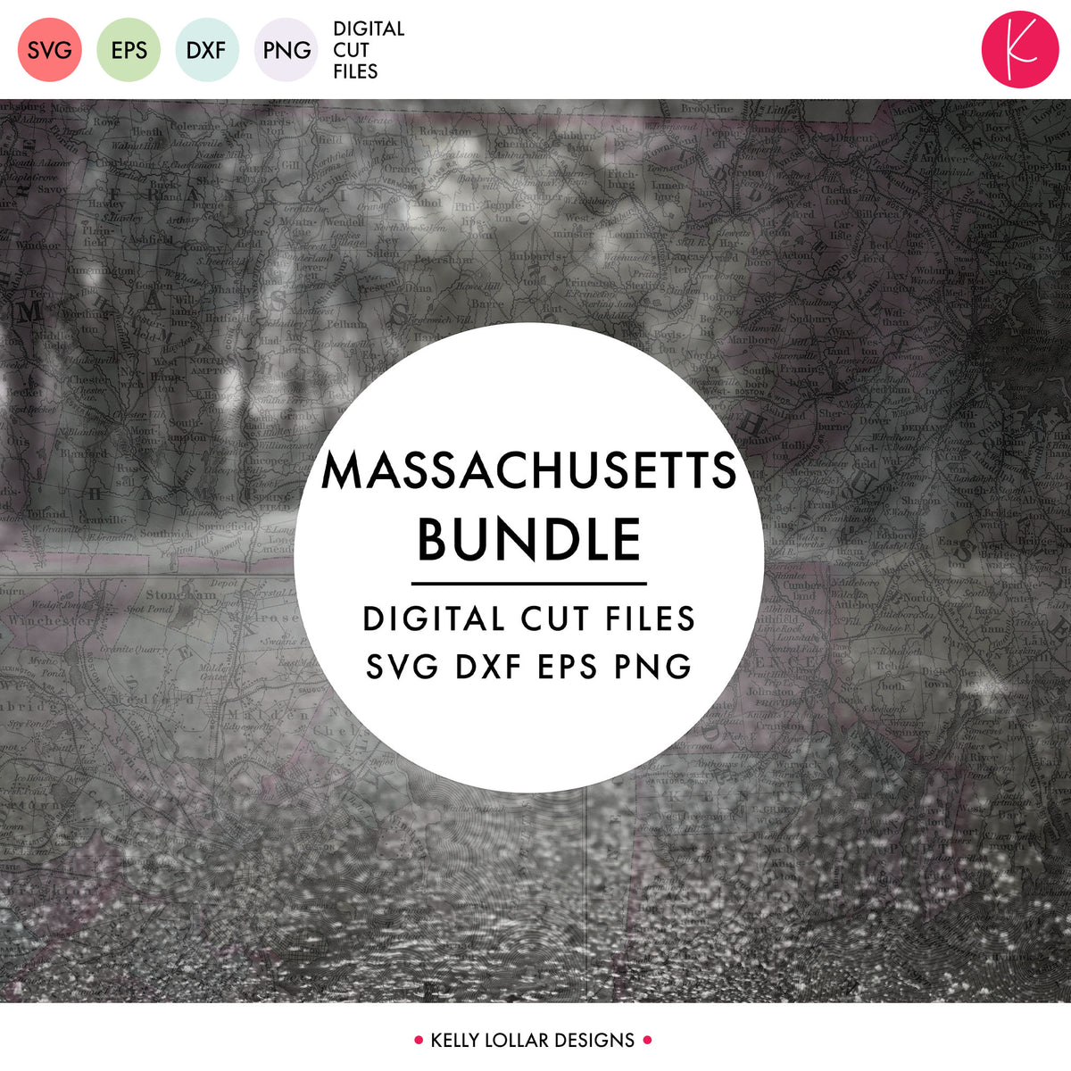 Massachusetts State Bundle | SVG DXF EPS PNG Cut Files