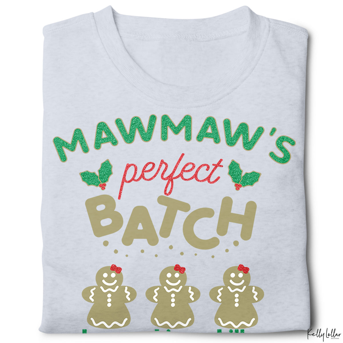Mawmaw's Perfect Batch | Christmas Shirt Design for Mawmaw with Gingerbread Cookies for Children's Names | SVG DXF EPS PNG Cut Files