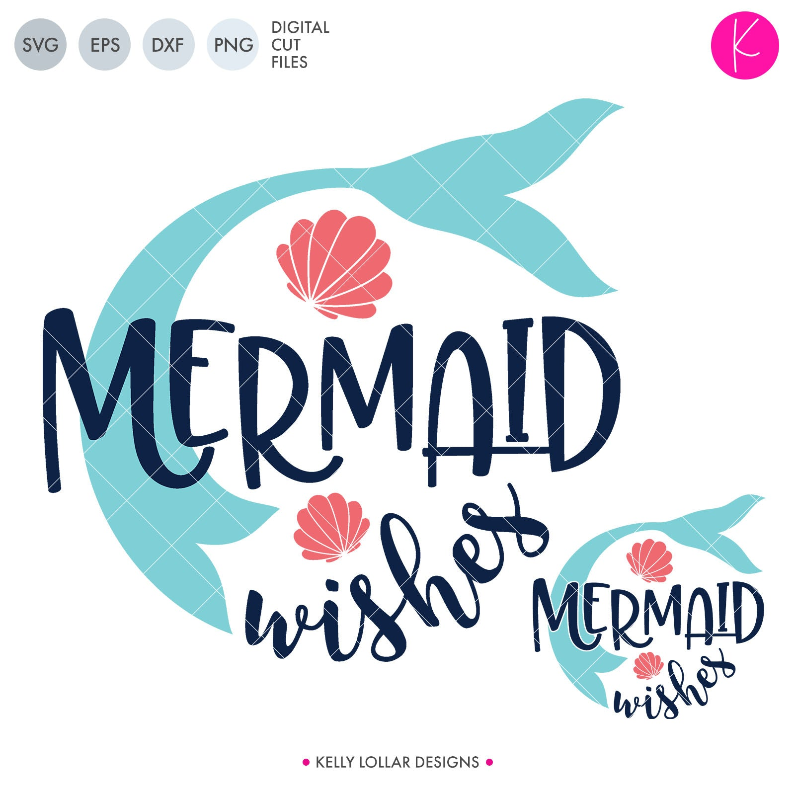 Mermaid Wishes | SVG DXF EPS PNG Cut Files