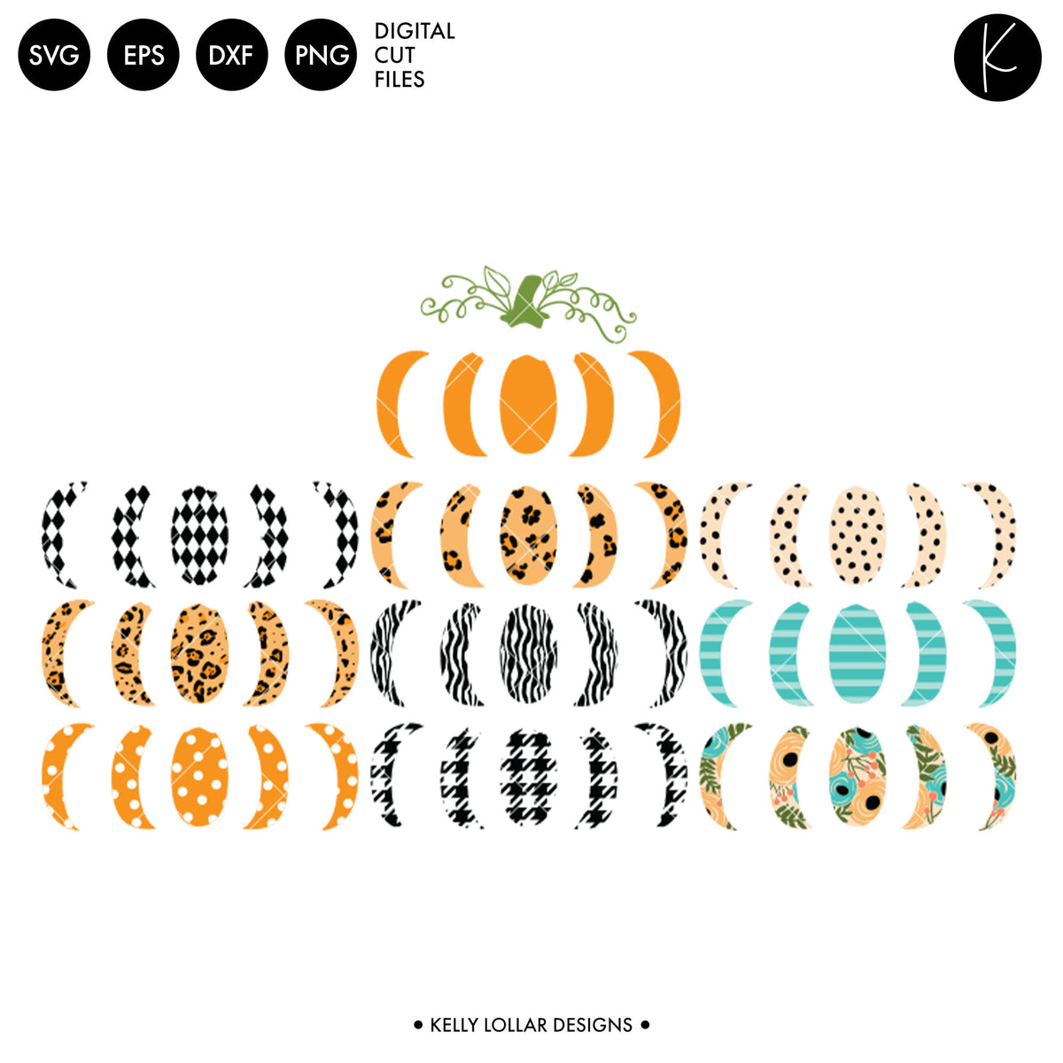 Mix n Match Pumpkin Pack | SVG DXF EPS PNG Cut Files