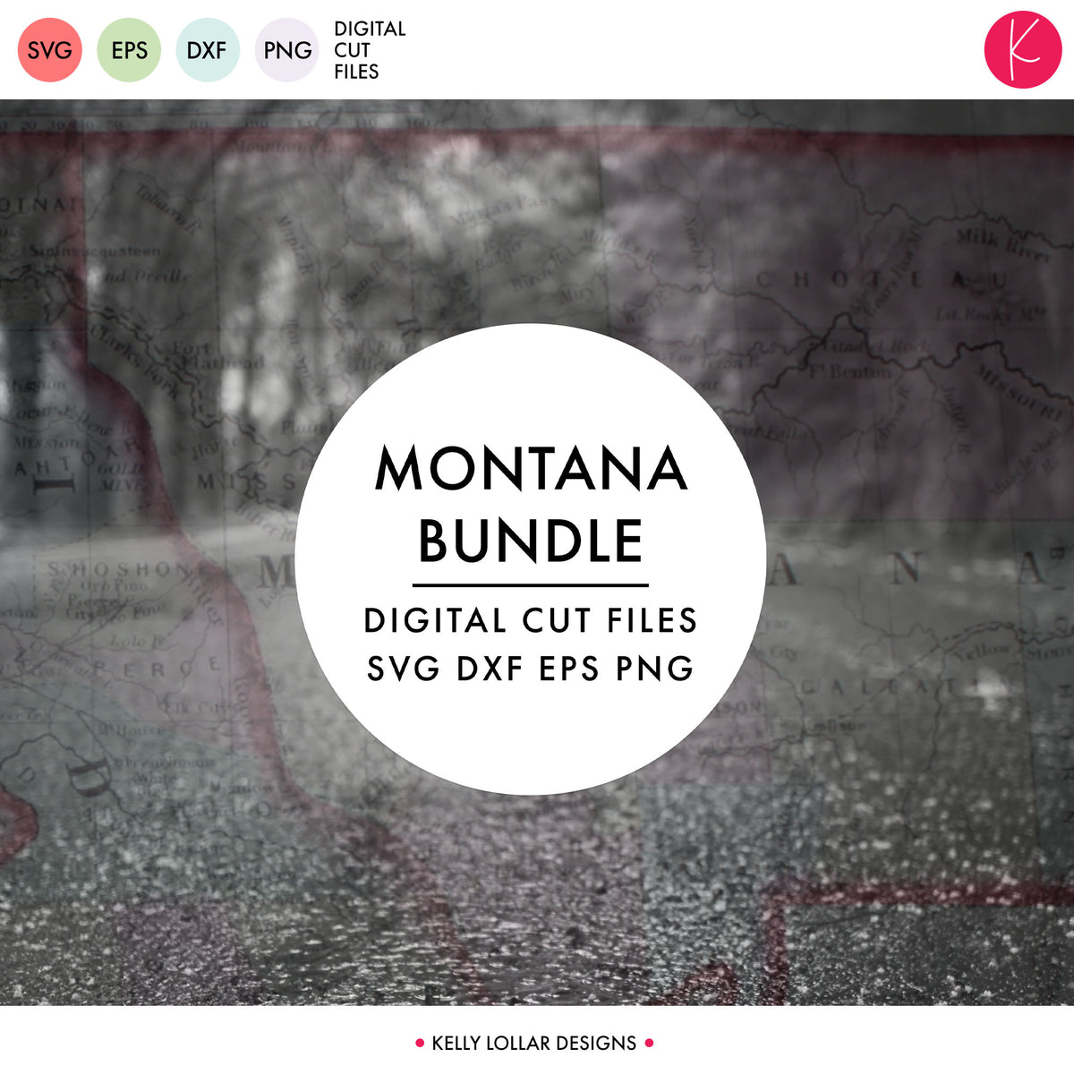 Montana State Bundle | SVG DXF EPS PNG Cut Files