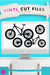 Mountain Bike | SVG DXF EPS PNG Cut Files