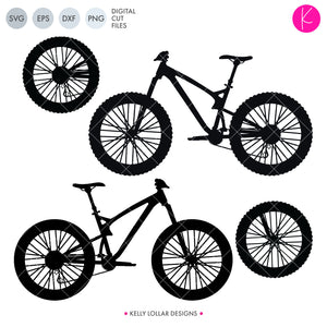 Mountain Bike svg file - silhouette of a trail bike