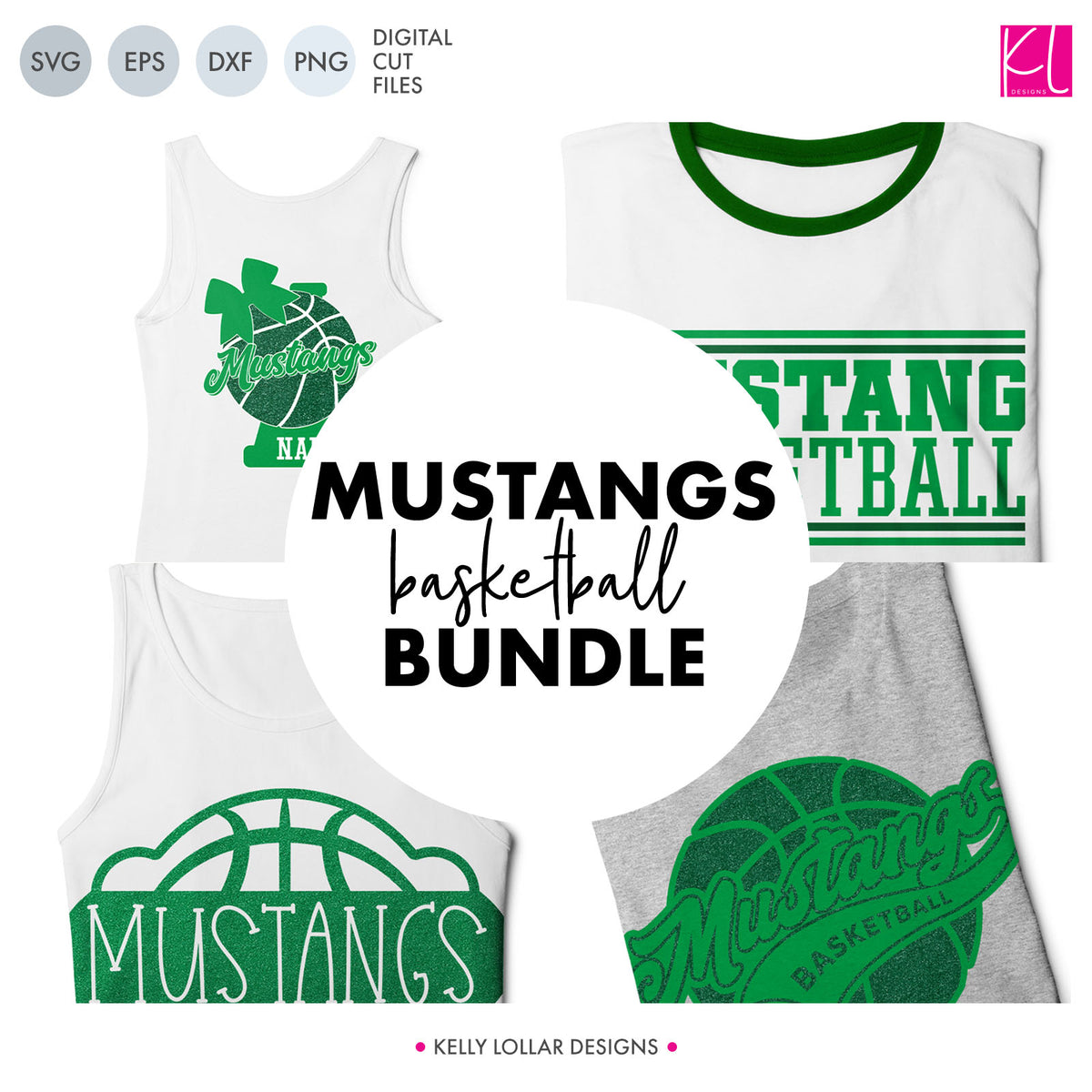 Mustangs Basketball Bundle | SVG DXF EPS PNG Cut Files