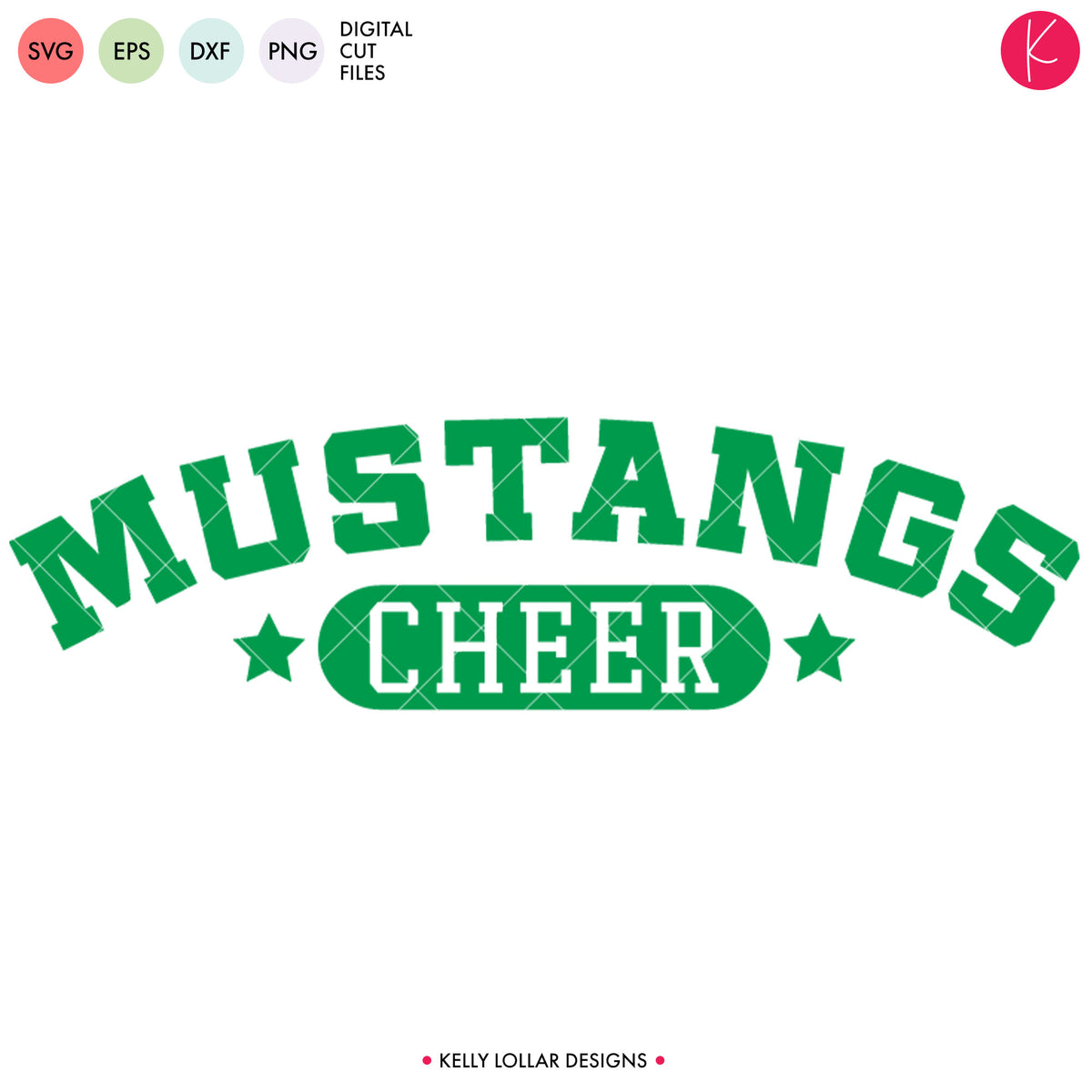Mustangs Cheer Bundle | SVG DXF EPS PNG Cut Files