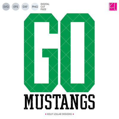 Mustangs Mascot Bundle | SVG DXF EPS PNG Cut Files