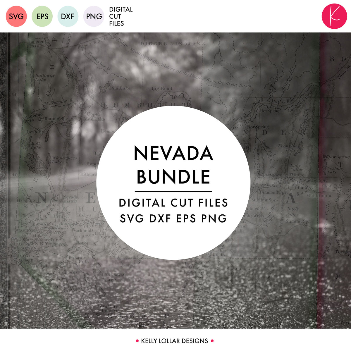 Nevada State Bundle | SVG DXF EPS PNG Cut Files
