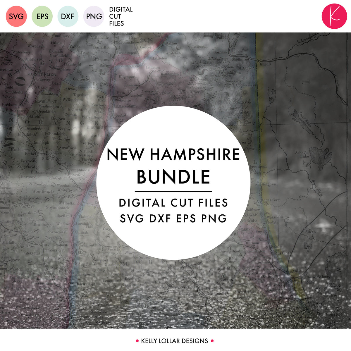 New Hampshire State Bundle | SVG DXF EPS PNG Cut Files