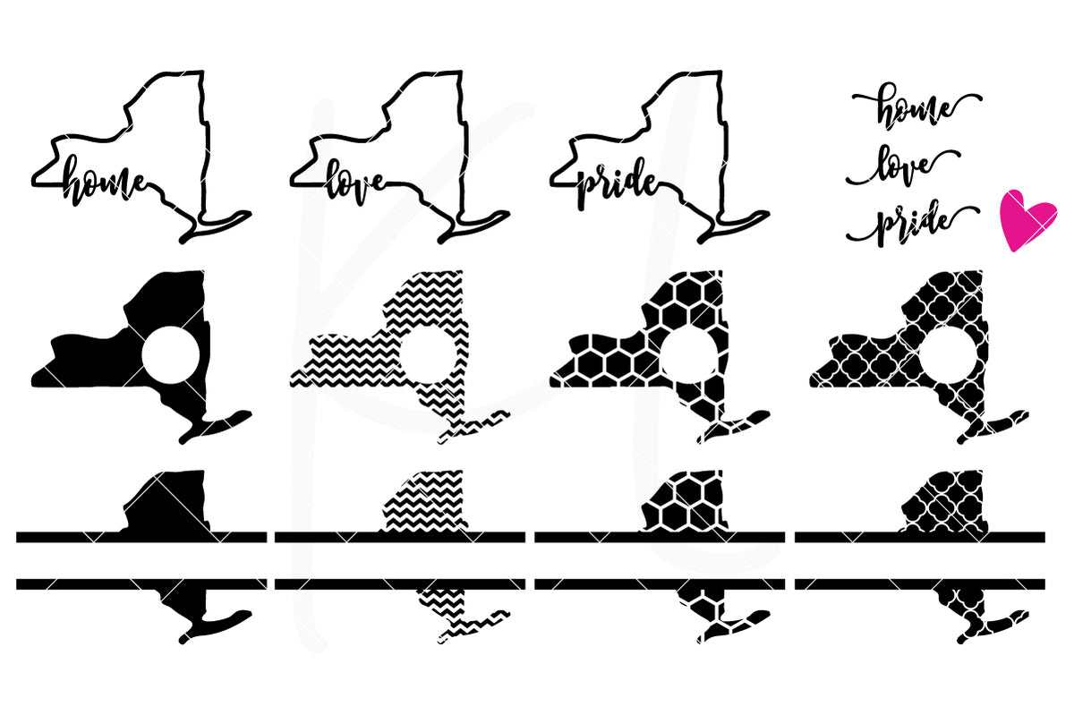 New York State Bundle | SVG DXF EPS PNG Cut Files